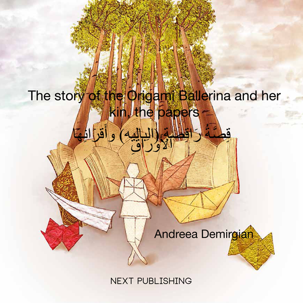 The story of the Origami Ballerina and her kin, the papers (engleză-arabă)